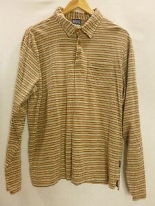 Patagonia-l-s-polo-shirt-organic-cotton-candy-striped-Medium-men-pre-owned