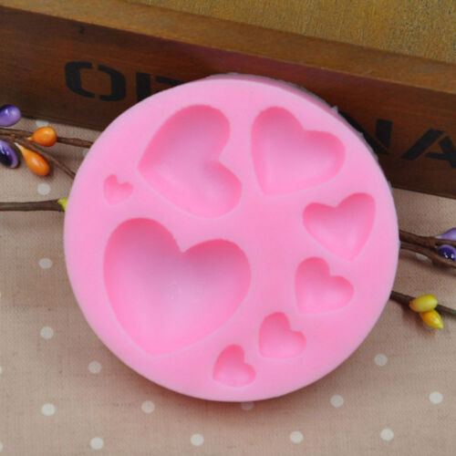 3D Heart Fondant Mold Silicone Cake Decoration Craft Sugar Chocolate Mould D,fr