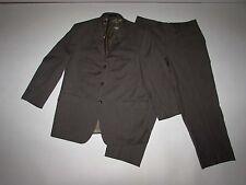 Calvin Klein Men's 3 Button Suit Size 44 Regular 36 x 27.5 Brown 100% Wool 44R