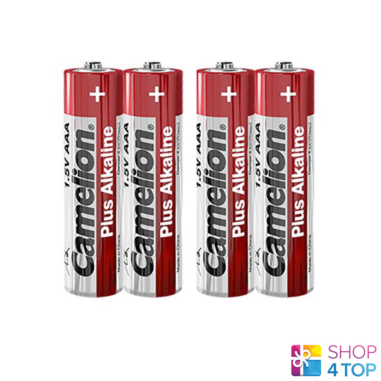4 Camelion AAA PLUS Alkaline Batteries lr03 mn2400 am4 e92 1.5v 2sh Exp 2027 NEW