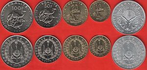 Djibouti coins set of 5 pieces 1991-2016 Uncirculated