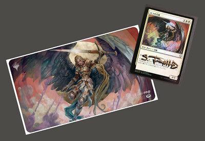 signed Ultra Pro Magic the Gathering Serra Angel Playmat from Scott M Fischer