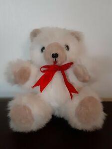 VTG-Handmade-Jointed-White-Teddy-Bear-Artist-Belva-Dalton-1986-034-Made-With-Care-034