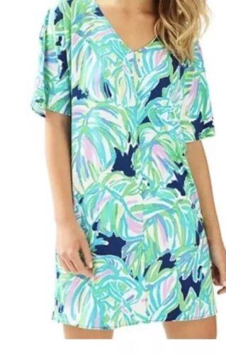 Lilly Pulitzer Lindley Caftan Dress Resort Navy Up