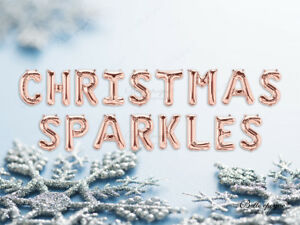 CHRISTMAS-SPARKLES-Christmas-Balloons-Banner-Garland-PARTY-ROSE-GOLD-SILVER