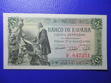 BILLETE DE 5  PESETAS DE 1945