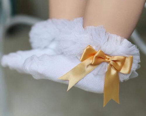 Toddler Cotton  Girls Kids Princess Bowknot Lace Ruffle Frill Trim Ankle Socks Girls' Socks Girls' Socks & Tights 2-16 Years
