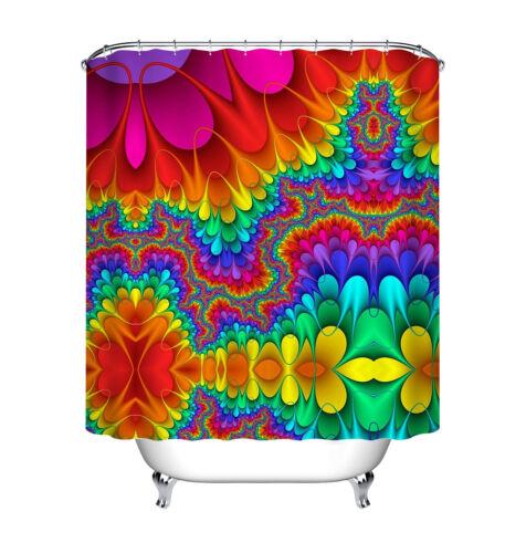 """Rainbow Couleurs Tissu rideau de douche ensemble salle de bain rideaux Liner 71X71/"""" Sheer"""