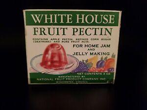 Vintage 1950's Full White House Fruit Pectin Box Jam JELLY Making Winchester VA