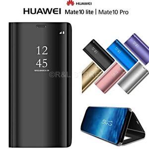 COVER-per-Huawei-Mate-10-Lite-Pro-FLIP-ORIGINALE-MIRROR-Case-SLIM-Clear-View