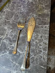 COPPIA di Vintage Knife and Fork W&H EPNS w35