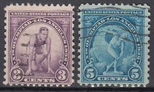 Estados Unidos - Correo 1932 Yvert 314/5 usado  Deportes