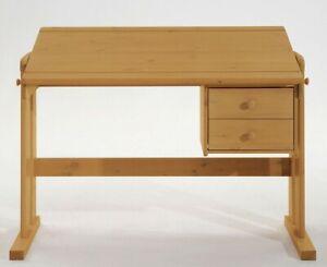 Massivholz Kinder Schreibtisch Höhenverstellbar Holz Kiefer Massiv
