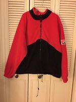 Unlimited Marlboro Fleece Jacket Full Zipper Red & Black Mens Size Xl