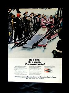 "1972 Arti Boss Cat Snowmobile Dale Cormican Champion Original Print Ad 8.5 x 11/"""