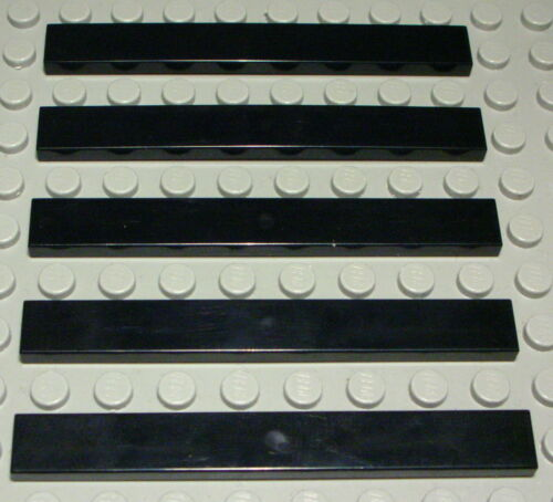LEGO carreau-tuile 1x8 Noir 5 pièce 832