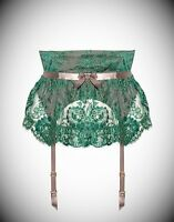 Agent Provocateur Soiree Gardinia Green Waspie Size 4/large/12-14 Rrp £495