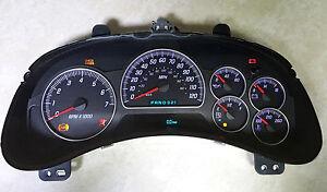 Gmc Envoy Instrument Gauge Cluster Speedometer Reman Rebuilt Programmed 2002 05 Ebay