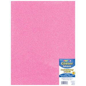 Details about Darice Foamies Glitter Foam Sheet Pink 2mm thick 9 X 12 Inches
