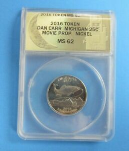 2016-P-Michigan-Quarter-034-Coin-Heist-034-Dan-Carr-Token-Movie-Prop-Used-in-Movie