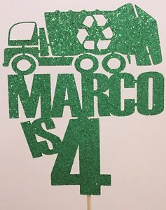 GREEN GARBAGE TRUCK WITH MEN BIRTHDAY SHIRT PERSONALIZED NAME AGE