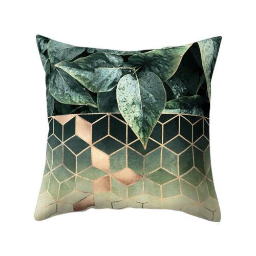 Vente chaude design géométrique housses de coussin Square Throw Back Taie d/'Oreiller Art Decal