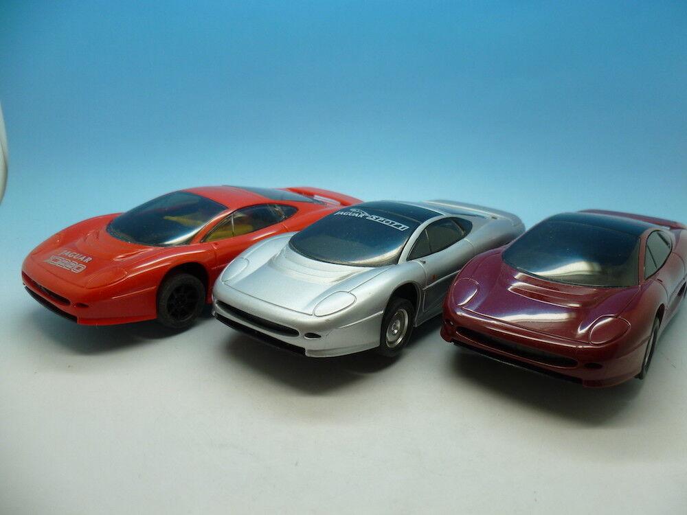 Scalextric Jaguar XJ220 x 3 all used and all three run