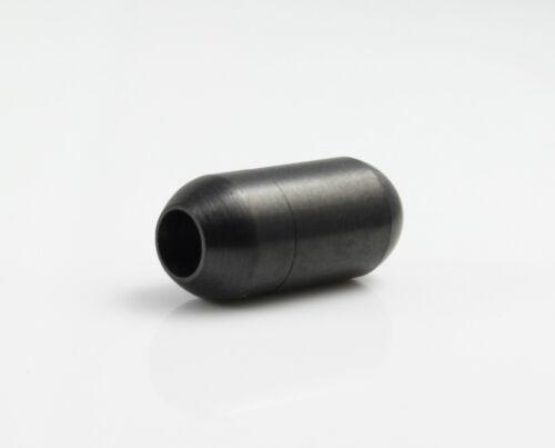Edelstahl Magnetverschluss schwarz Ø 4 mm Schmuck herstellen anthrazit