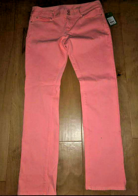 NWT Lilly Pulitzer Neon orange Jeans Size 10