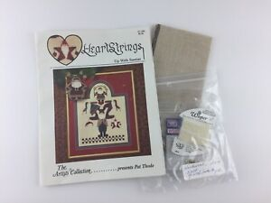 Heart-Strings-Up-With-Santas-Partial-Cross-Stitch-Kit-Pattern-With-Fabric-Charms
