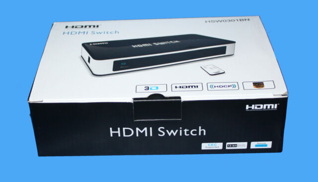 Maplin 3 Way HDMI 4k2k Switch With IR Remote No6gf eBay