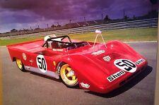 Ferrari Mario Andretti Extremely Rare Car Poster! Own It!