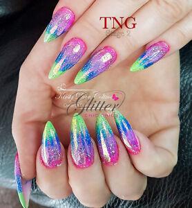 Neon Pigments 5ml Pots For Acrylic Uv Gel Nail Art Design 12 Colours