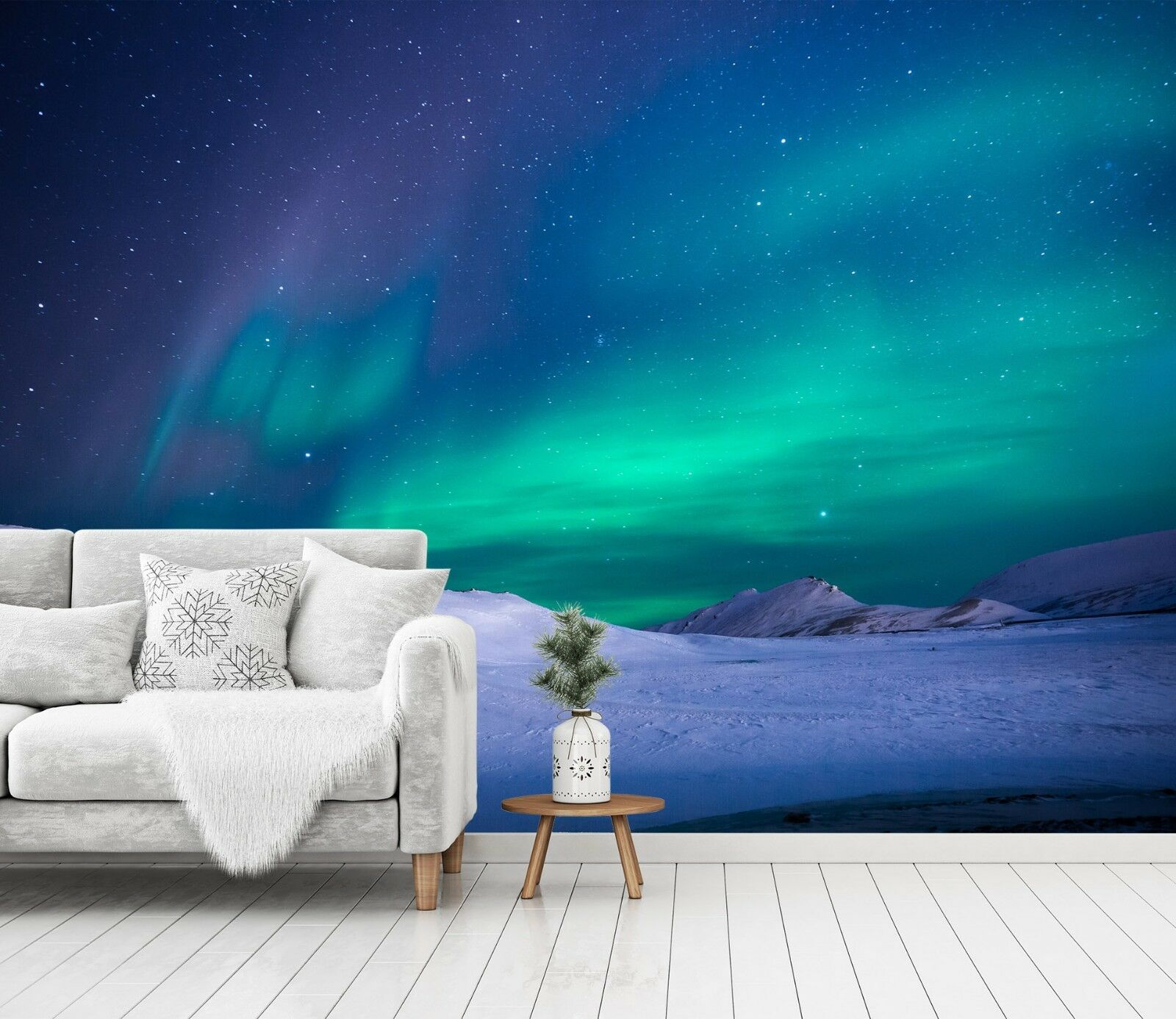 3D Aurora Green 968 Wallpaper Mural Paper Wall Print Indoor Murals CA Summer