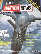 INTERNATIONAL AVIATION NEWS MAG V16#4 SCALE PLAN FOKKER S.14 MACH TRAINER KELNER