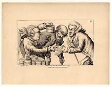 Caricatura-imposta-imposte-LITOGRAFIA - Tim Bobbin (John Collier) 1850 sistema monetario