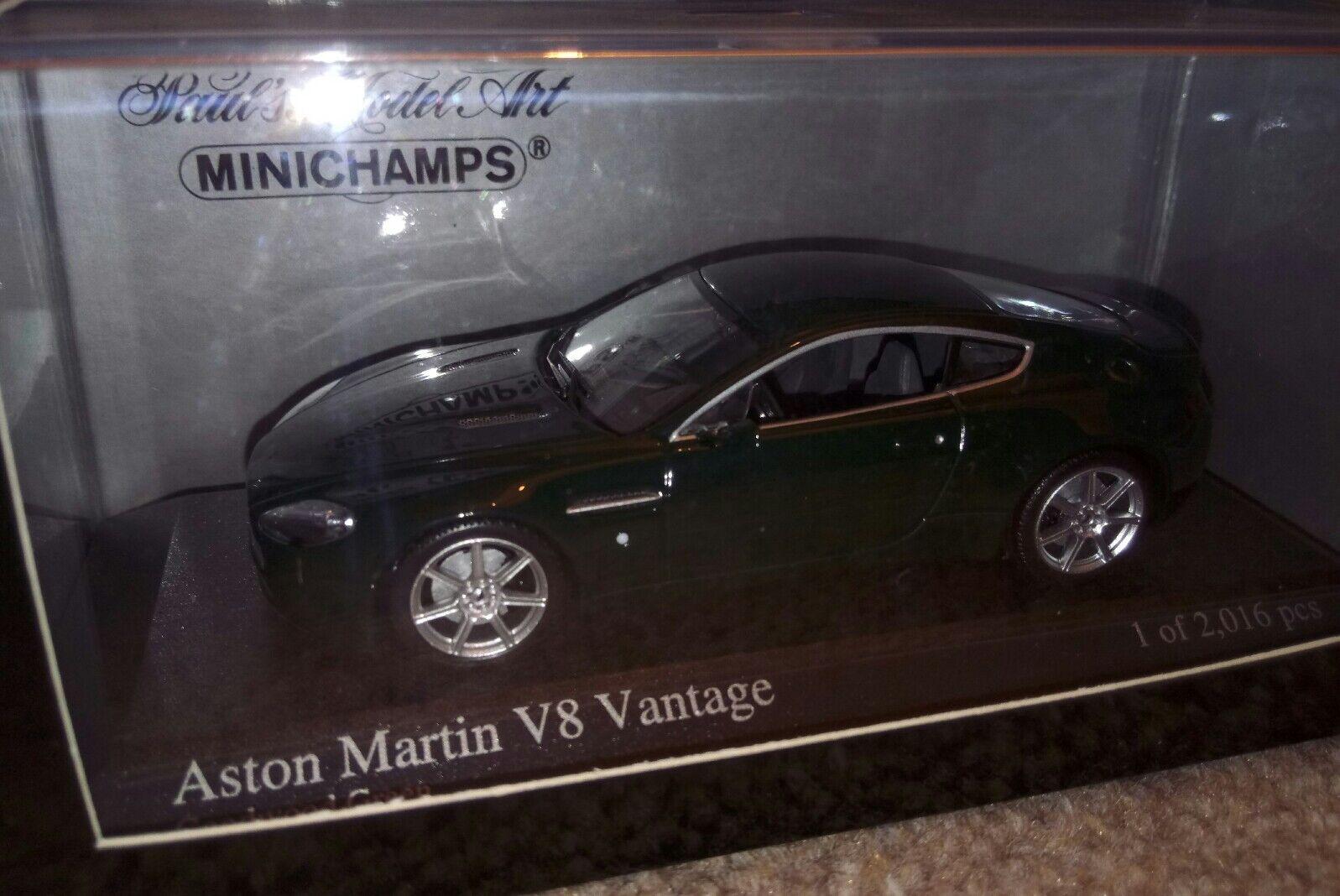 Rare Aston Martin Vantage Good wood Green Ltd 1 43 scale MIB by Minichamps