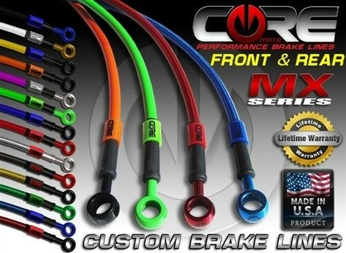 CORE MOTO Honda 09-16 CRF450R CRF450 Brake Line set front rear SS braided kit