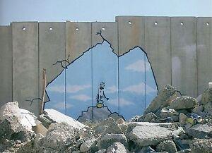 Banksy Muro de Ramallah Ed.300 Firma Impresa Ed.numerado a lapiz Spain
