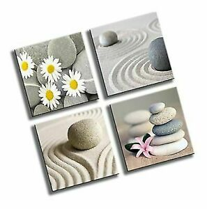 4 Panels Beach Seascape Flower Canvas Picture for Home Office Wall Art Decor hanging decorations
