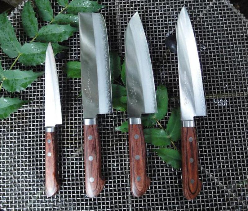 Japonaise couteau de cuisine  Yoshihiro HGW couteaux VG-1 Chef Petty, Santoku, Usuba Set