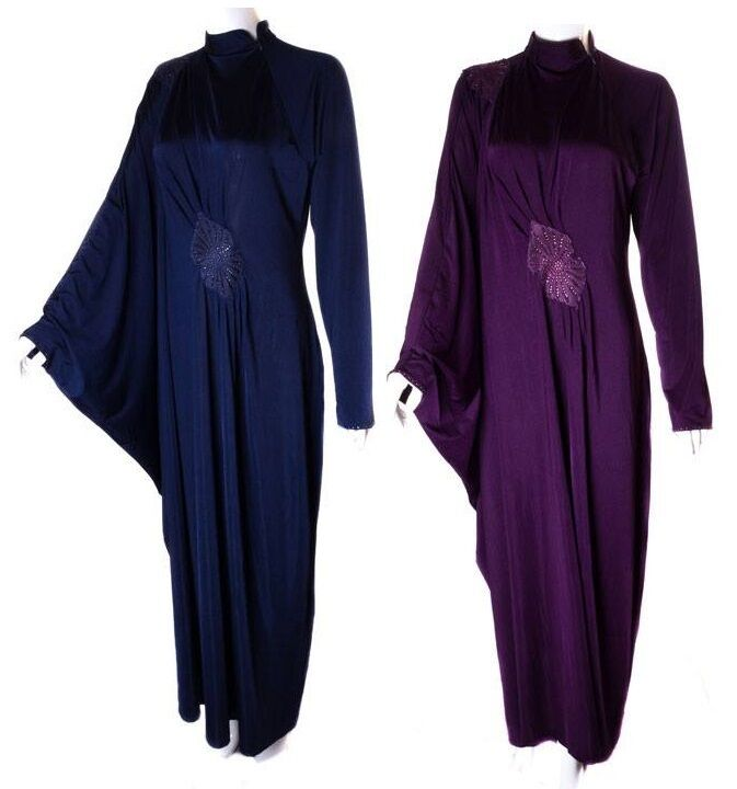 Ladies New Butterfly Kaftan Batwing Diamante  Muslim Abaya ArabJilbab HijabDress