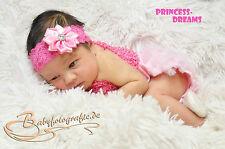 Princess-Dreams Baby Mädchen Rüschenhöschen/Spitzenhöschen Rosa Fotoshooting