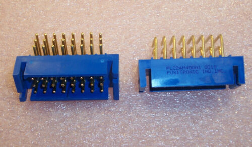 1 PLC24M400A1 POSITRONIC 24 PIN 3 ROW R//A PRESS-IN CONNECTOR GOLD LEADS QTY