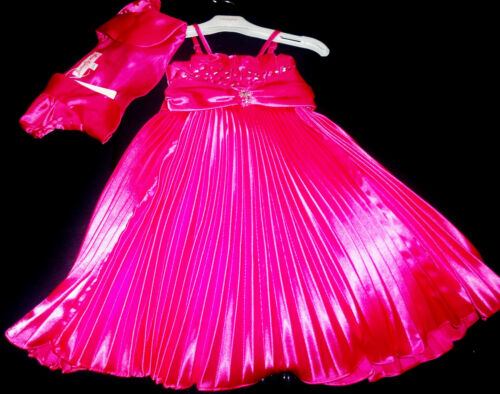 Hot Pink Prom Pageant Flower Girl Bridesmaid Dance Ball Party Dress 2-12y Cerise