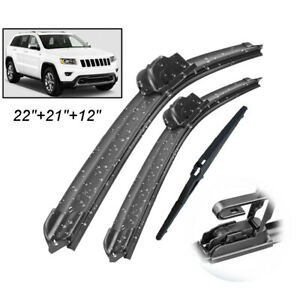 3Pcs-set-Front-Rear-Windscreen-Wiper-Blades-For-Jeep-Grand-Cherokee-WK2-11-13