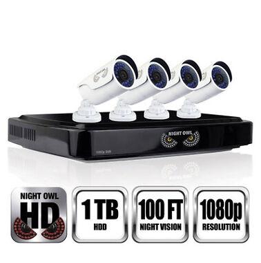 Night Owl AHD10-841 8-Ch. 1TB DVR with 4 Cameras