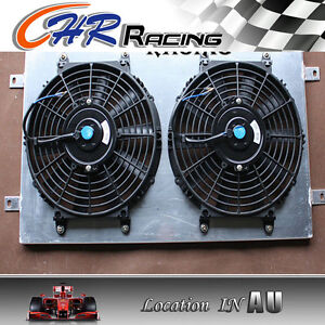 Aluminum-Radiator-Shroud-Thermo-Fan-for-HQ-HJ-HX-HZ-253-amp-308-V8-Holden-engine