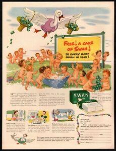 Swan Soap - Joan Davis - Ad 1946 Artwork