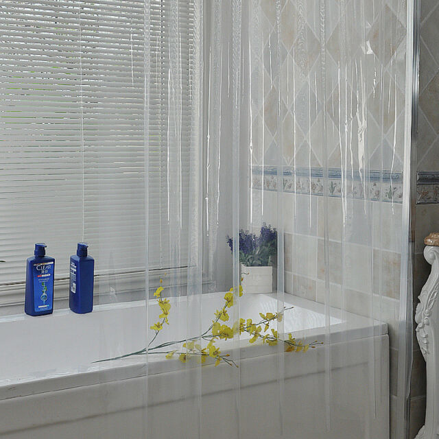 New IKEA NACKTEN Clear Plastic Transparent Bathroom Shower Curtain